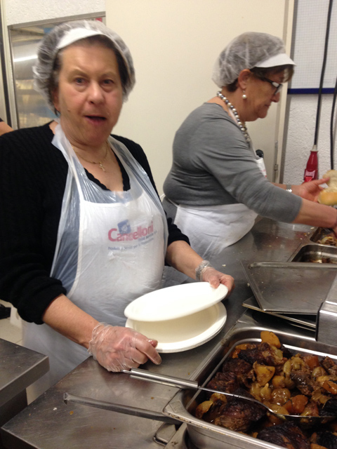 Local women - all volunteers - cook up the vernaccia goodness
