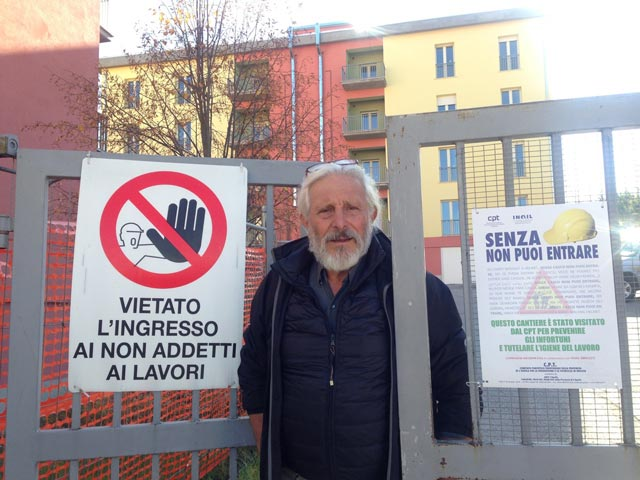 Pino before the L'Aquila apartments his team has restored