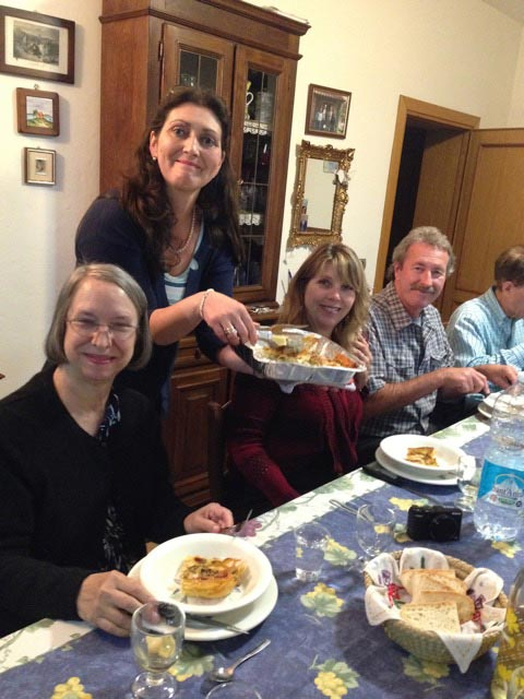 Daughter, Rossanna, serves up the goodness