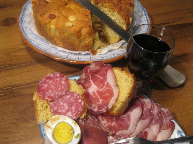 cheesebread-red-wine-egg-salami-capocollo-prosciutto
