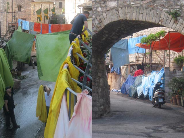 In Assisi, Calendimaggio In the Making – Without Gina 1 – 12