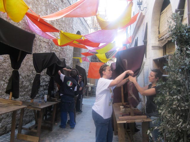 In Assisi, Calendimaggio In the Making – Without Gina 1 – 16